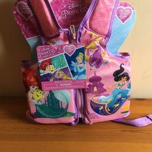 NWT Disney Princess Swim Vest Small/Med 33-45 lbs